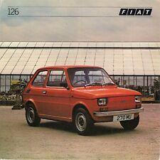 FIAT 126 1981-82 UK MARKET FOLDOUT vendite opuscolo PERSONAL 4 DE VILLE