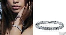 Precious 925 Sterling Silver Links Pave CZ Cubic Zirconia Bracelet Wedding
