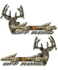 Orange Truck 4x4 Camouflage Decal - Archery Hunting Deer Off Road Sticker