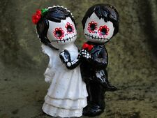Day of the Dead Wedding Cake Topper - Skeleton Couple - Handmade in the USA