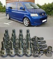 RANGE ROVER TO VW T5 SHUTTLE ALLOY WHEEL CONVERSION KIT BOLTS LOCKERS RINGS
