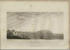 1823 MAJOR LIGHT SICILIA INCISIONE LA BAIA DI PALERMO MONTE PELLEGRINO P.DE WINT
