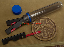3 Survival Saws +Sharps Container IFAK First Aid Bone Blow Out SERE EDC Kit Gear
