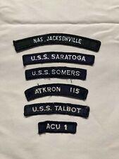 Us Navy Lot Of 6 Uim Shoulder Rocker Tabs