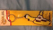 BEATLES YELLOW SUBMARINE  RUBBER KEY CHAIN IN THE PACKAGE