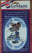 SPEEDY GONZALES RIDES TRIUMPH MOTORCYCLE Embroidered Patch