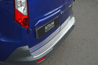 To Fit Ford Transit Connect (2012+): Rear Bumper Protector Scratch Guard Brushed