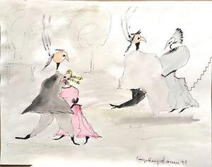 "Ingeborg Hoven, ""in Frau Mart...(Goethes Faust) "" , Original, Unikat,"