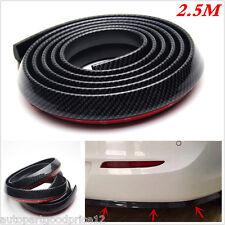 2.5m Carbon Fiber Car Front Bumper Lip Splitter Spoiler Valance Chin Protector