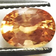 Natural 0.94 Carat Orange Sapphire Genuine Loose Gemstone Oval