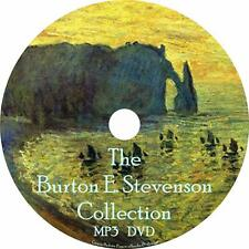 Burton Stevenson Audiobook Collection English Unabridged on 1 MP3 DVD Free Ship