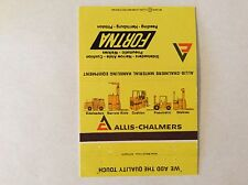 Matchbook Cover - ALLIS-CHALMERS, Reading Pennsylvania  **LOOK**