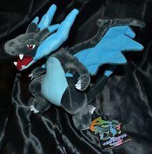 """10"""" Mega Charizard X # 6 Pokemon Plush Dolls Toys Stuffed Animal Dragon Dark"""