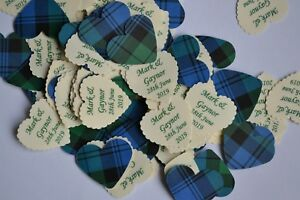 Amazing TARTAN TABLE CONFETTI Personalised + MORE CHOICES OF TARTAN AVAILABLE