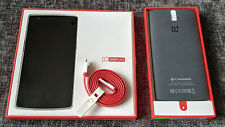 OnePlus ONE 64GB LTE 4G Black Unlocked with Genuine Bamboo Case