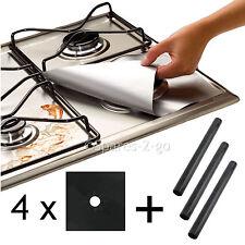 4 X universale in Teflon Piano cottura a gas nero Protector & 3 x heavy duty Forno Fornello Liner