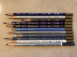 Staedtler Karat Watercolor Pencils lot of 10 Germany