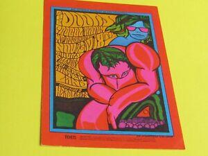 1967 THE DOORS, PROCOL HAREM. Bill Graham/Fillmore. Original post card.