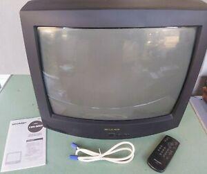 "Sharp 19"" Color CRT TV Retro Gaming 19H-M60 Remote 1996"