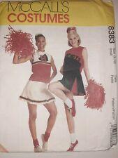 Cheerleader Costume Skirt Top Panties 8 10 McCalls Sewing Pattern 8383