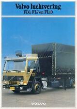 Volvo FL6 FL7 FL10 luchtvering Prospekt NL 1986 brochure Broschüre Lkw Schweden