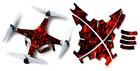 DJI Phantom 2 Drone Wrap RC Quadcopter Decal Custom Skin Accessory Red Flames