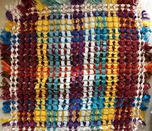 Vintage hecho a mano para coser en la funda de un cojín