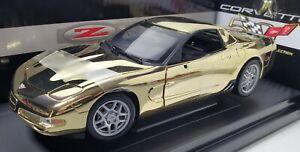 ERTL 1/18 2003 CORVETTE Z06 GOLD CHROME 1 OF 500 - Sequential # License Plate
