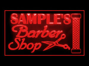 270022 Barber Shop Personalized Your Text Display Neon Sign