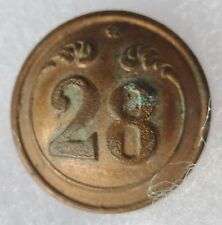 Bouton Second Empire 28° REGIMENT DE LIGNE France Napoléon III 18 mm Crimée