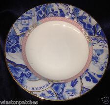"Andrea By Sadek Jered Holmes Oriental Collage Rim Soup Bowl 8 1/2"" Blue Floral"