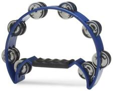 Stagg Half Moon Percussion Cutaway 16 Jingles Hand Tambourine - Blue TAB2BL new