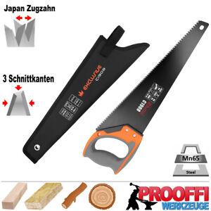 Profi Handsäge Baumsäge Fuchsschwanz Garten Holz Säge Japan Zugzahn TEFLON C1908