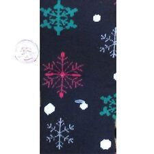 Funky Multicolor BLACK SNOWFLAKES KNEE SOCKS Lolita Holiday Christmas Stockings