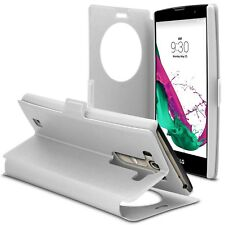 Caseink - Coque Pour LG G4s / Mini [ Papyrus Slim Folio ] WindowView - Blanc