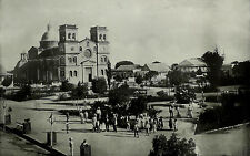 Antique 1899 GUAYNABO PLAZA & Cathedral Puerto Rico Military Road 11x15 Print