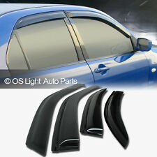 03-08 Toyota Matrix XR/XRS Smoke Window Vent Sun Shade Rain Guard Visors 4pcs