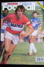 FRANCE FOOTBALL 11/8/1987; Luis Fernandez/ RFA-France/ Angleterre/ FC Nantes