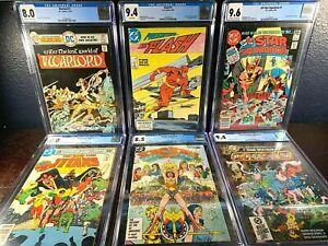 DC Key Issue CGC Lot WONDER WOMAN Warlord FLASH Teen Titans 1st Appearance 1 NM