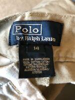 Polo Ralph Lauren Boys Khaki Chino Pants Size 14