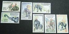 MLH OG FVF 1958 Laos STAMPS Scott 41 47 Full Complete Set Elephants