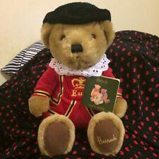 "Vintage Uk Harrods Knightsbridge Beefeater Plush 10"" Queens Guard Bear London"