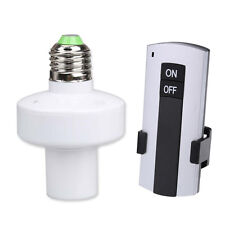 Wireless Remote Control E27 Screw Lamp Bulb Holder Cap Light Socket Switch New