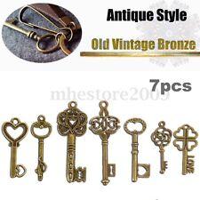 Lot of 7 Old Rusted Skeleton Keys Antique Key Vintage crafts cabinet lock door