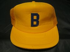 Vintage 80's Yellow/Gold Color Bat Boy Youth Baseball Size S/M Trucker Hat