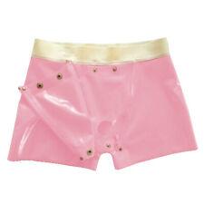 Latex Rubber Boxer Shorts Handsome Zipper Gummi Hosen Handmade Cool Short Pants