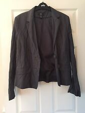Women's Grey / Silver H&M Jacket / Blazer *EUR 46 (U.K. Size 18)*