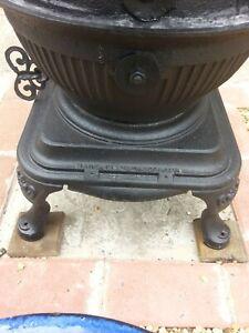 pot belly wood burner stove
