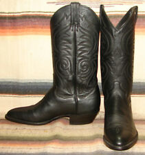 Womens Vintage Sanders Black Leather Handcrafted Cowboy Boots 8.5 B New In Box