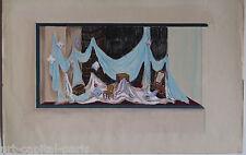MAY GOUACHE 1948 SIGNÉ PROJET DE VITRINE POUR GRANDS MAGASINS GOUACHE DRAWING
